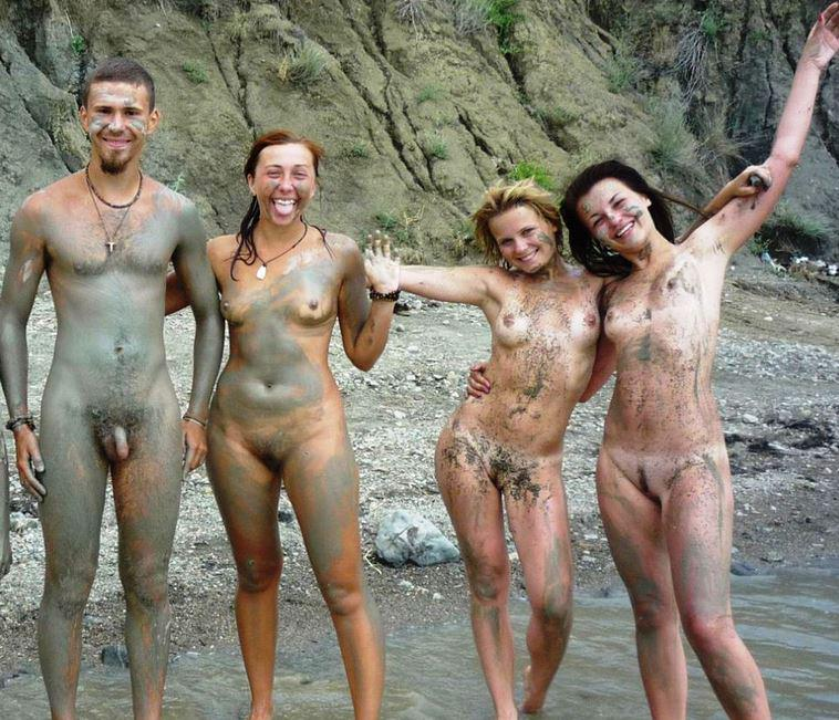 Naturist nudist nude beach