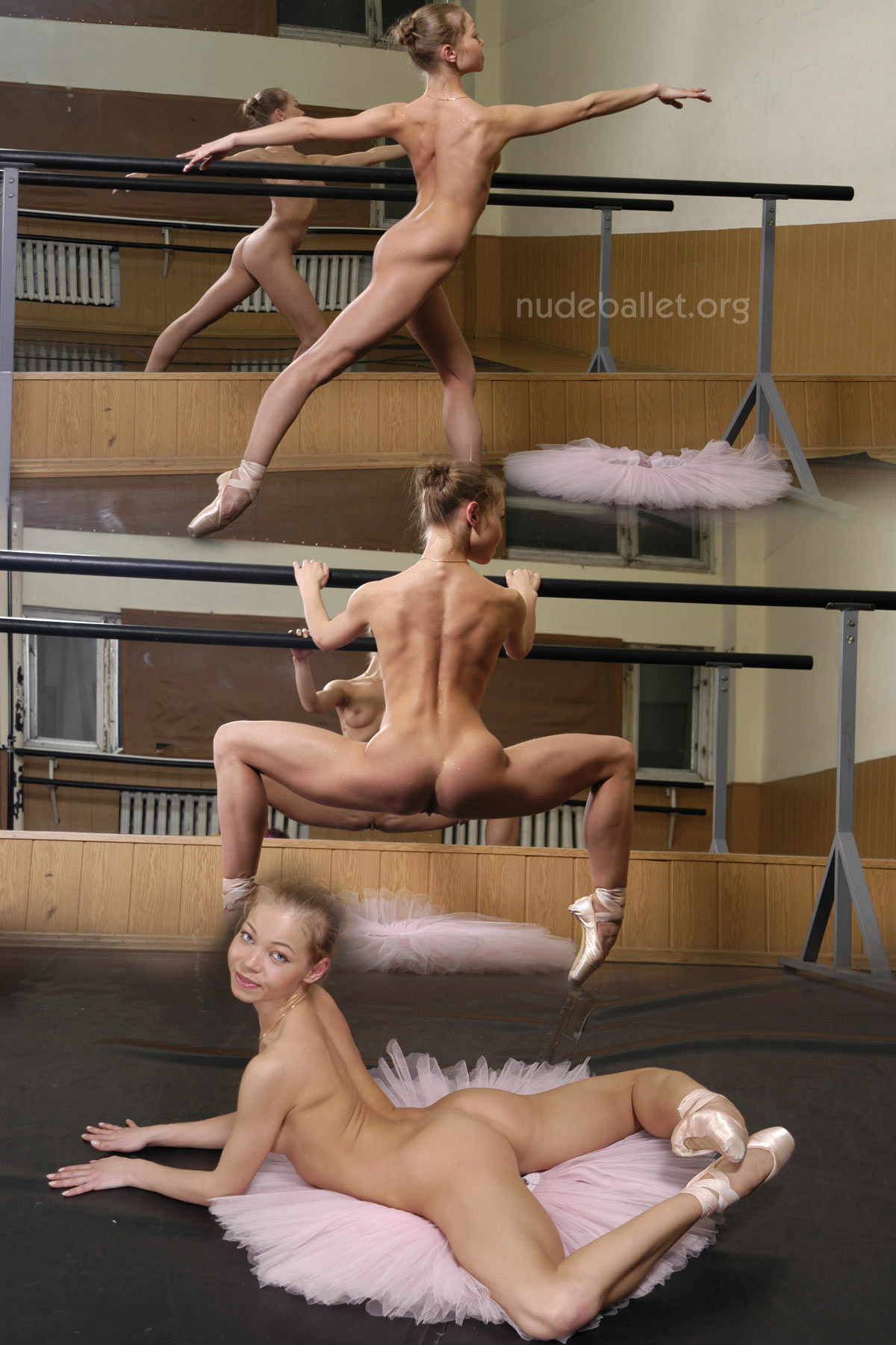 Flexible nude ballet girls