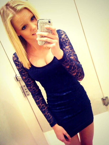 Blonde teen self shot