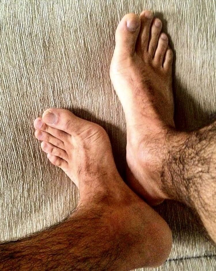 hairy fetish Man foot