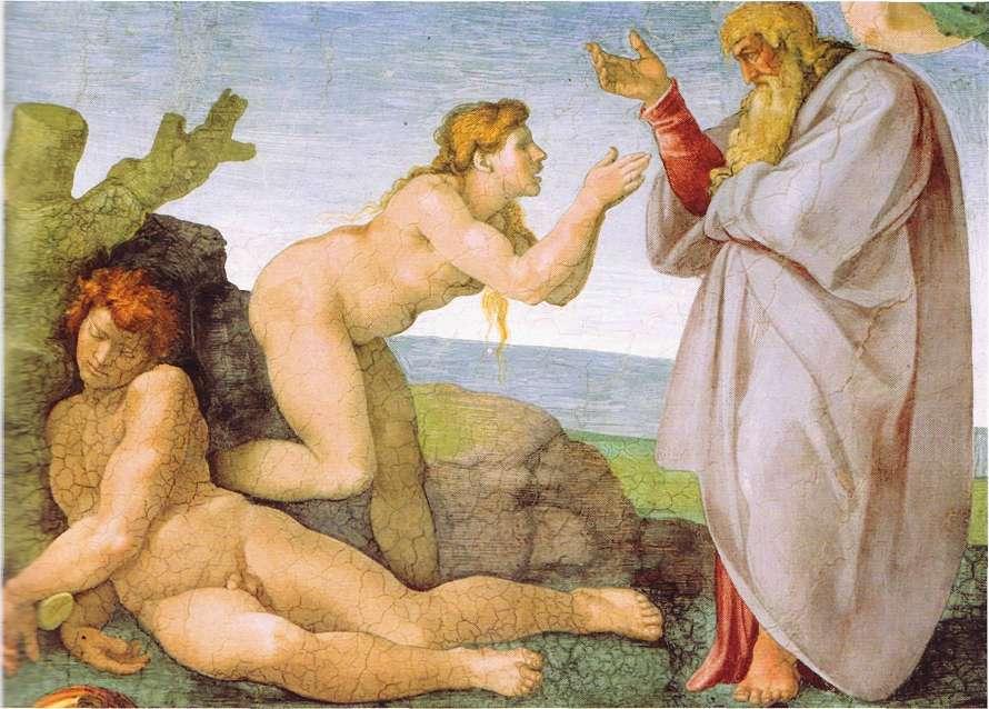 Michelangelo adam and eve