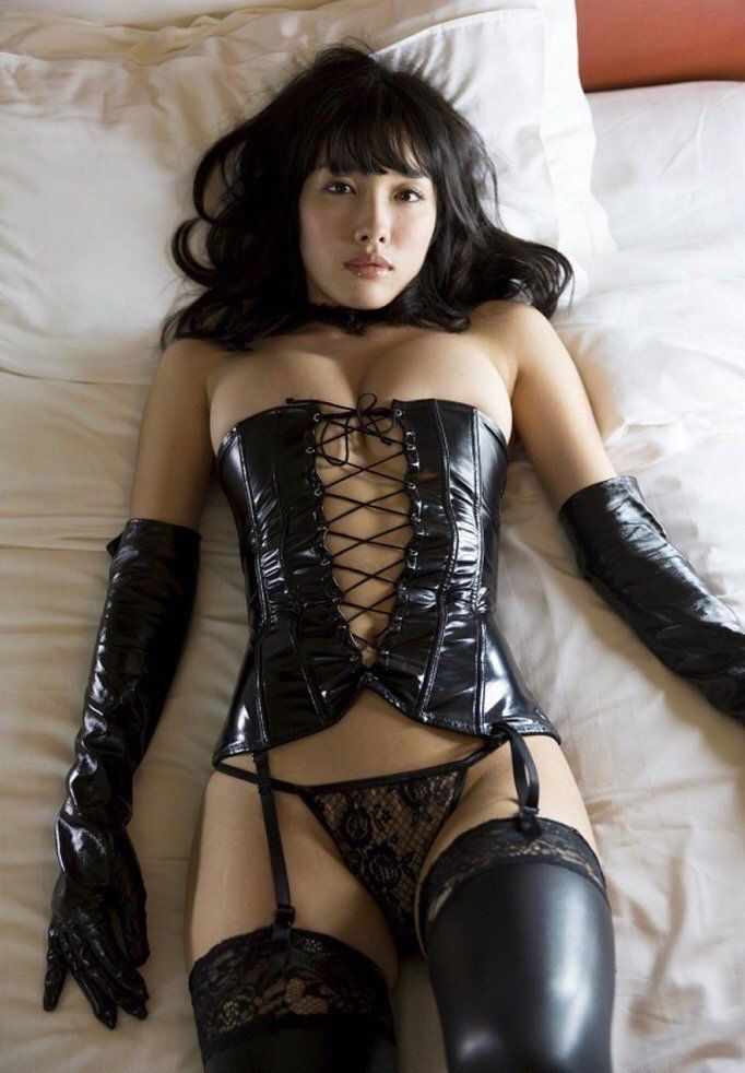 Sexy latex asian