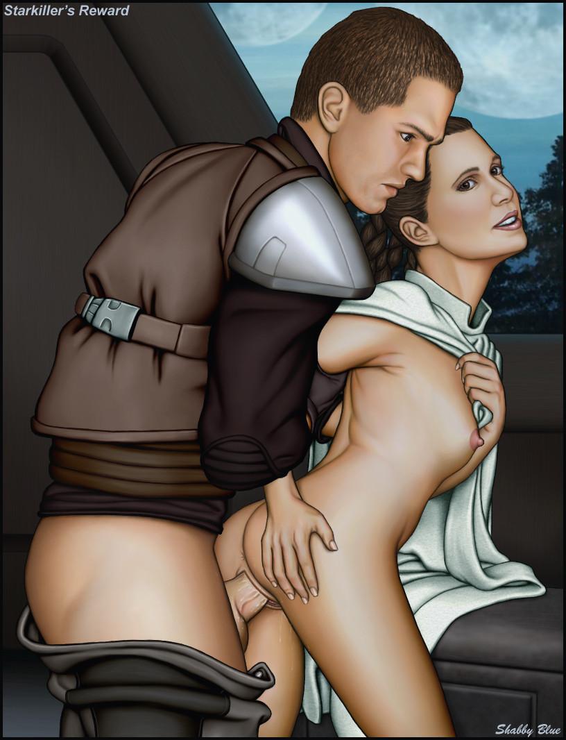 Star wars princess leia shabby blue porn