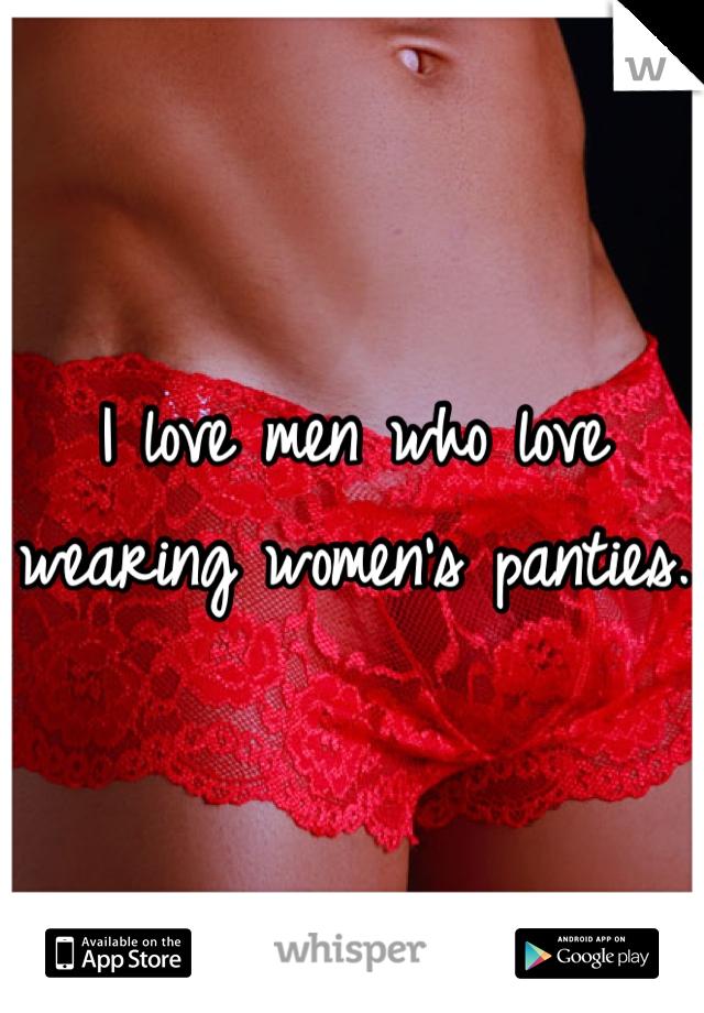 wearing women panties Men