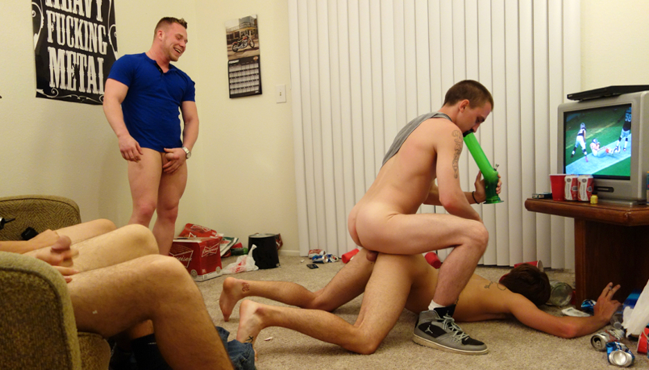 Gay college sex party