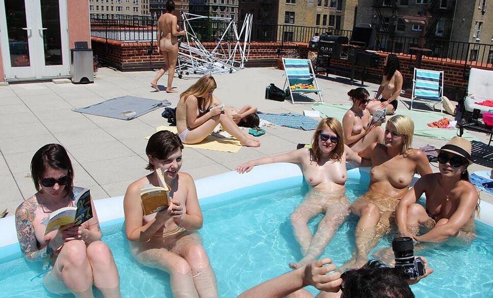 Nude spring break pool party