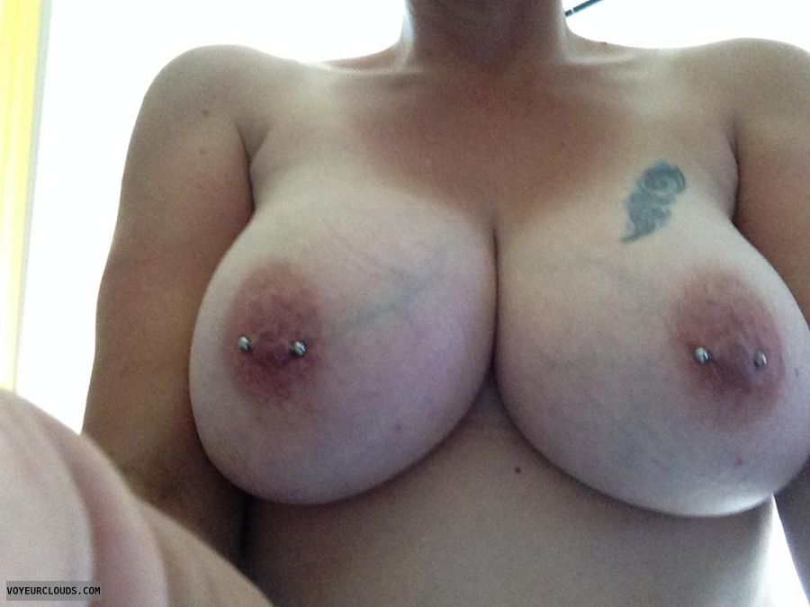 Big tits with pierced nipples