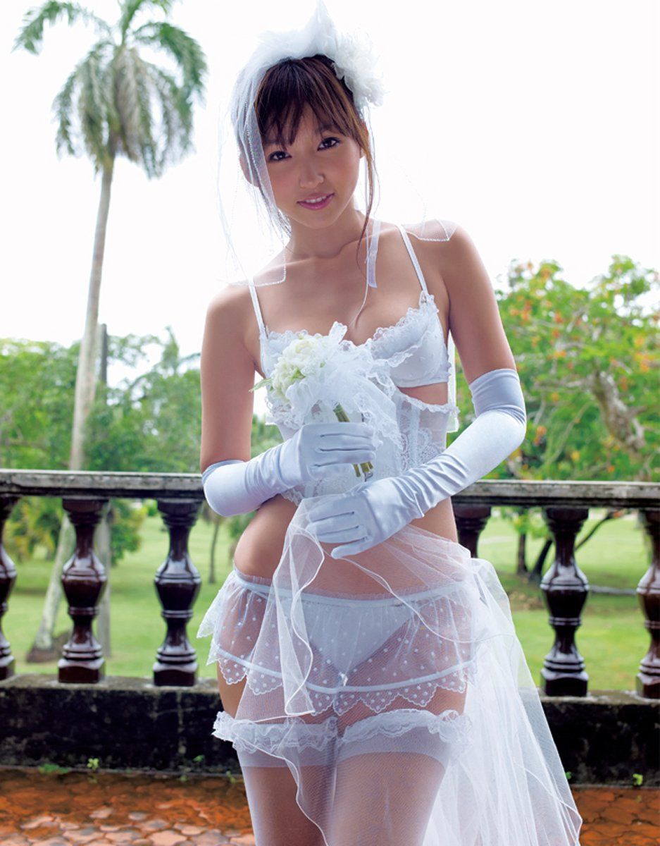 Sexy asian lingerie bride