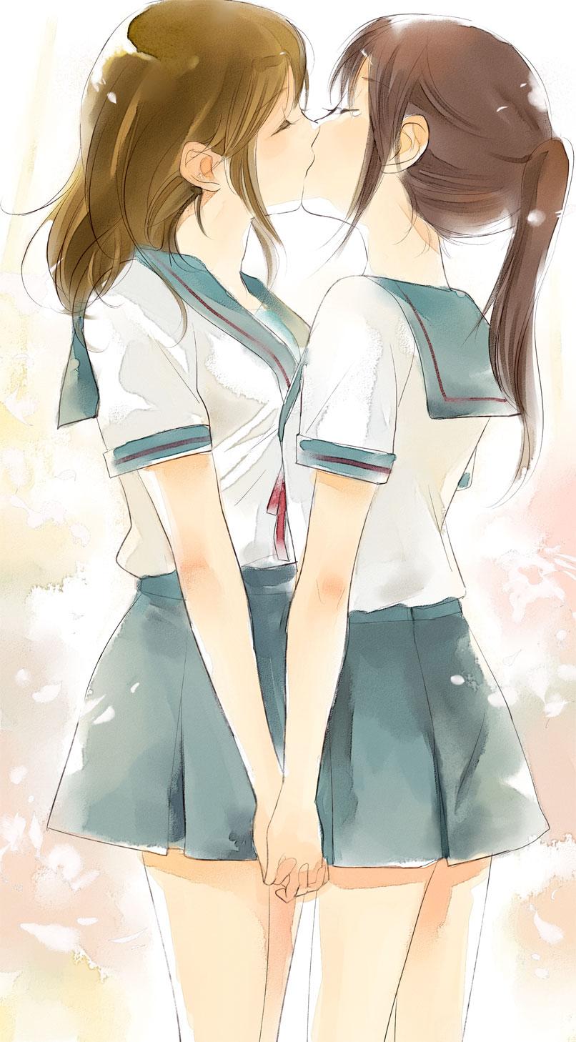 Lesbian anime girls