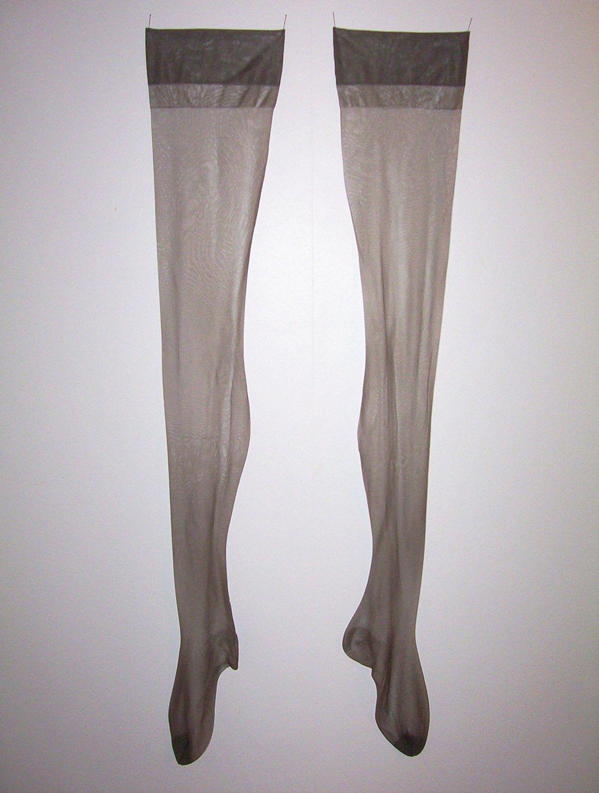 Rope nylon stockings white girl
