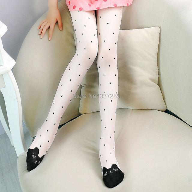 Girls pattern pantyhose