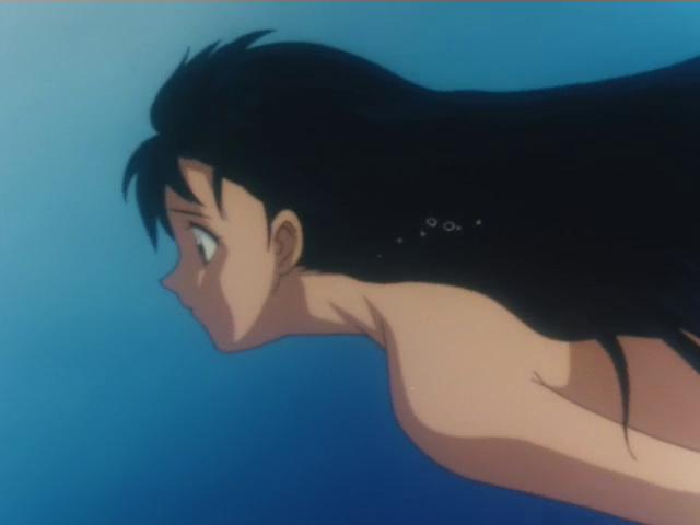 anime bath higurashi Kagome