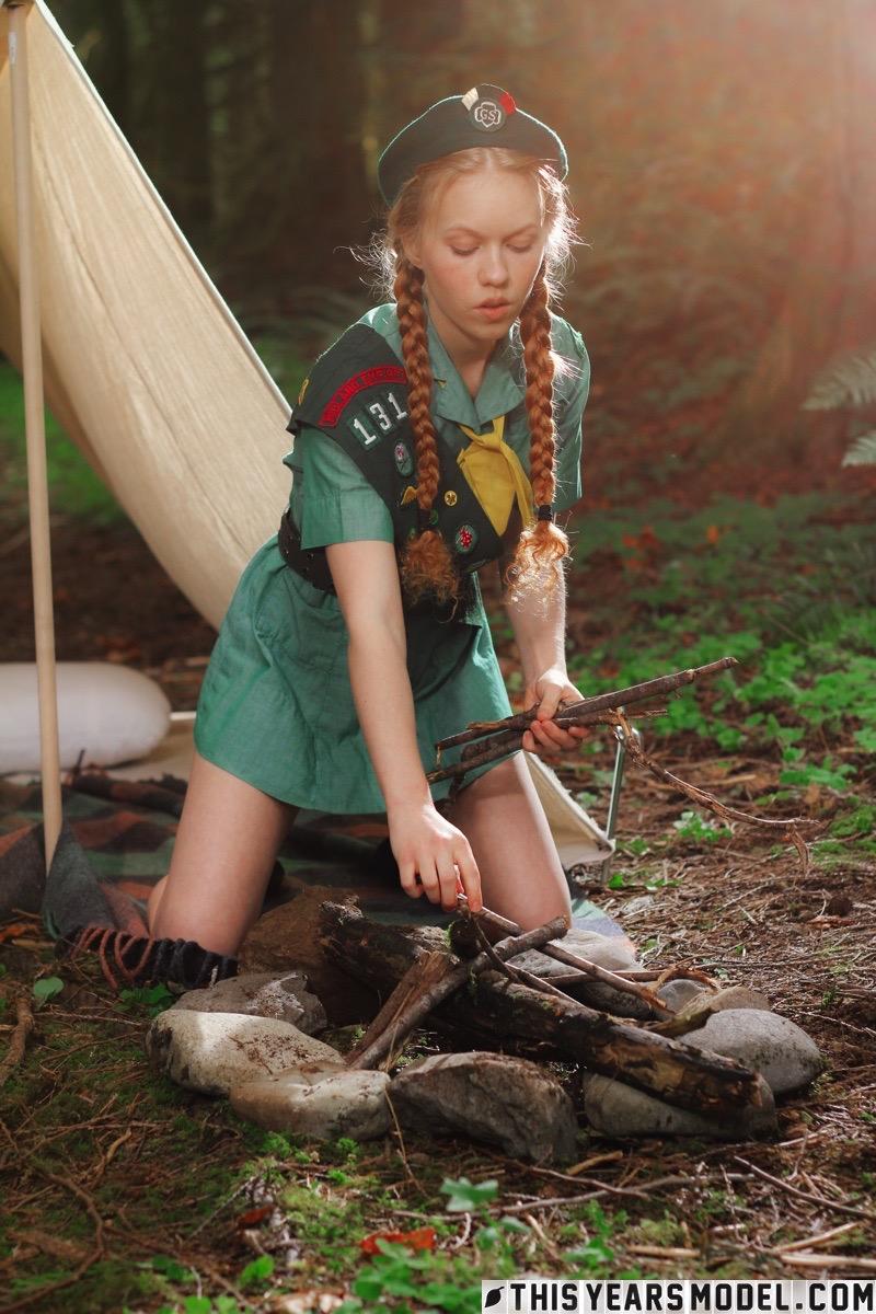 Girl scout upskirt
