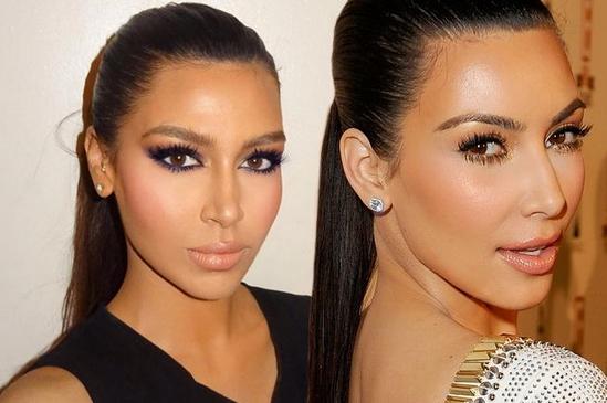 Kim kardashian look alike