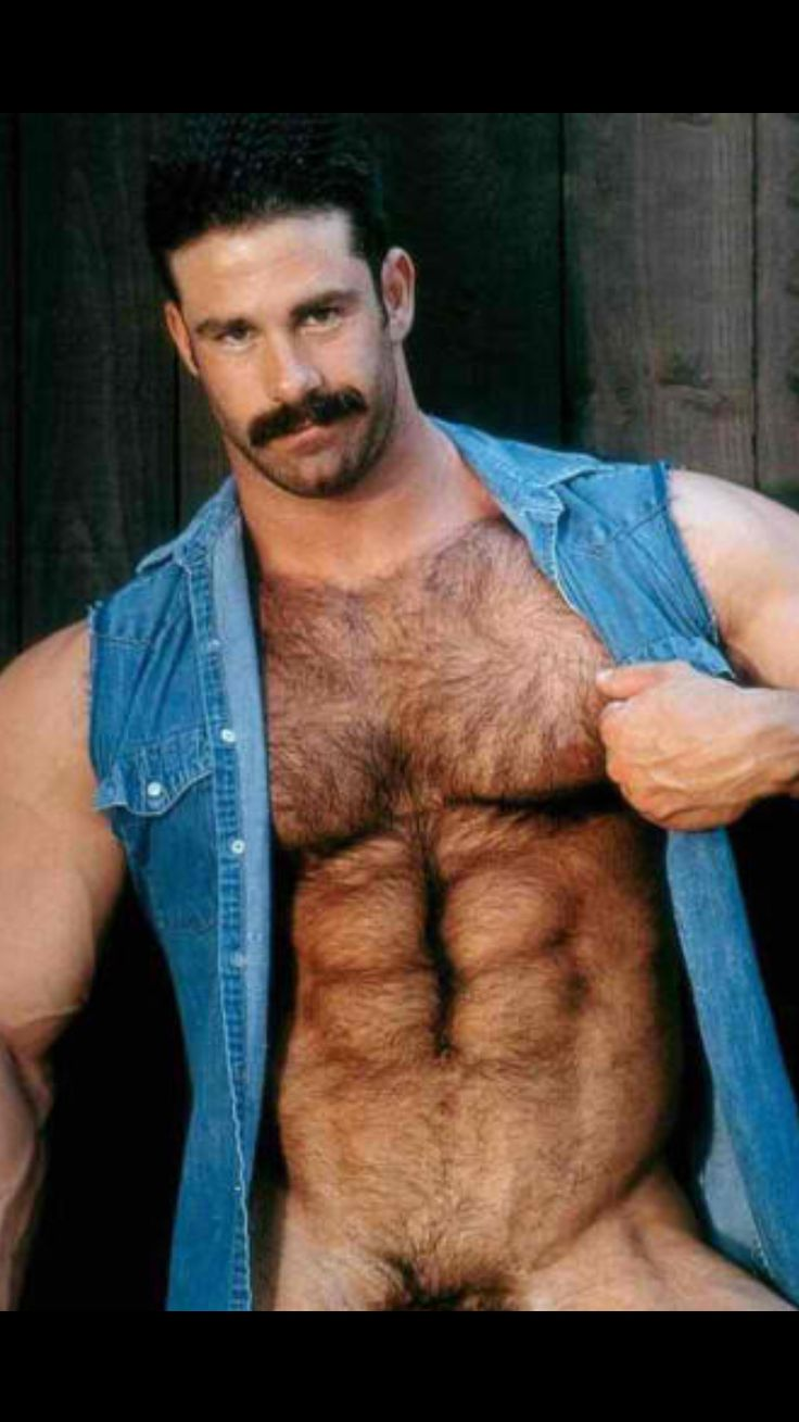 Naked hairy chested muscle men