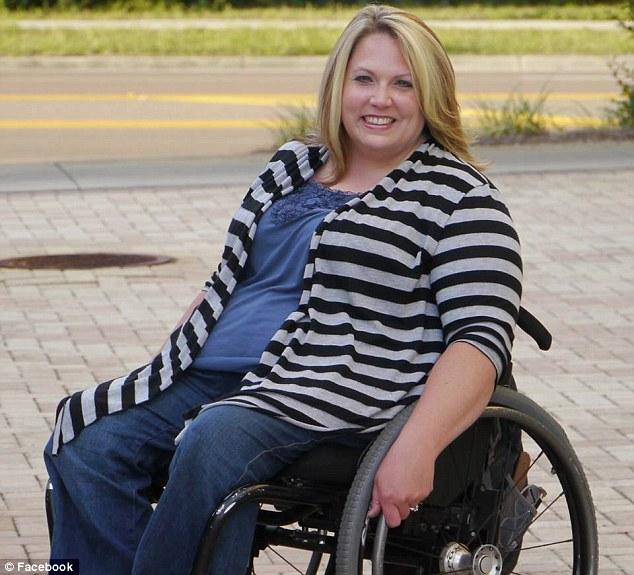 Wheelchair girl nude public
