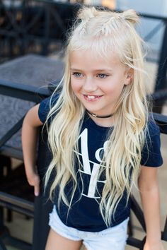 Cute blonde pigtails