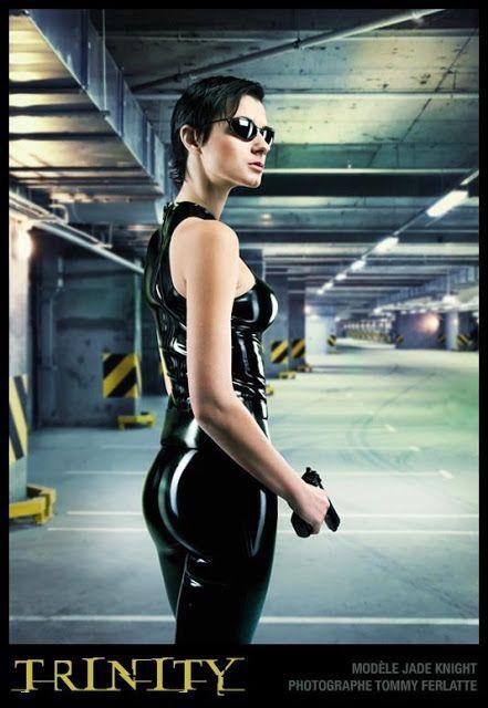 Naked trinity matrix cosplay