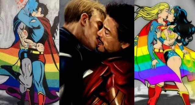 Superman gay comic art