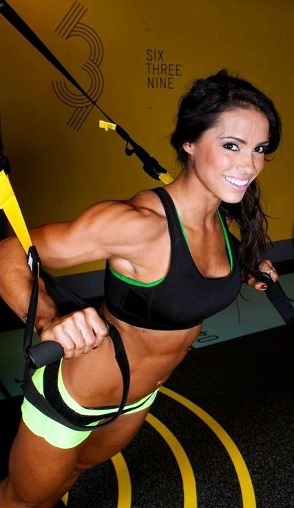 trx workout women doing Sexy