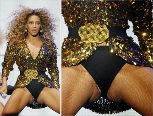on upskirt Beyonce stage