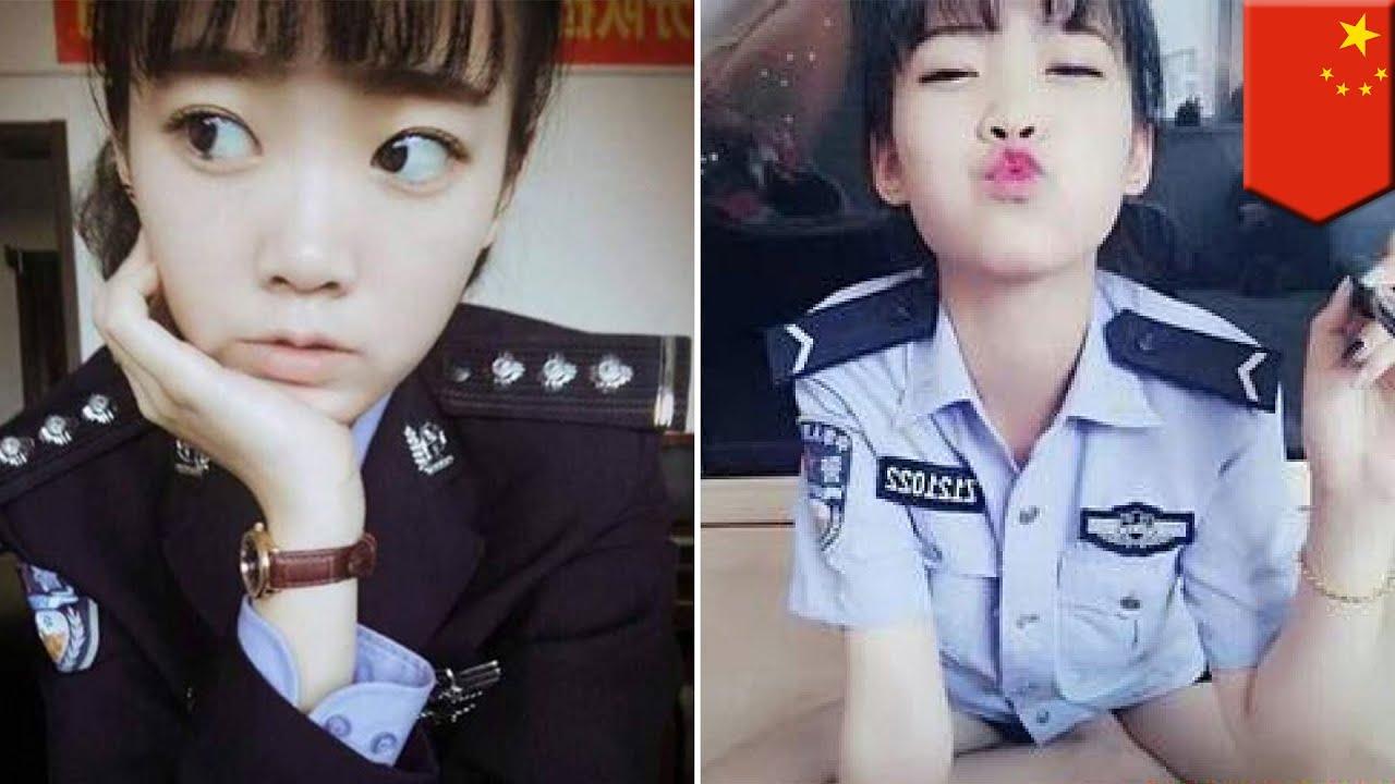 Sexy asian police uniform