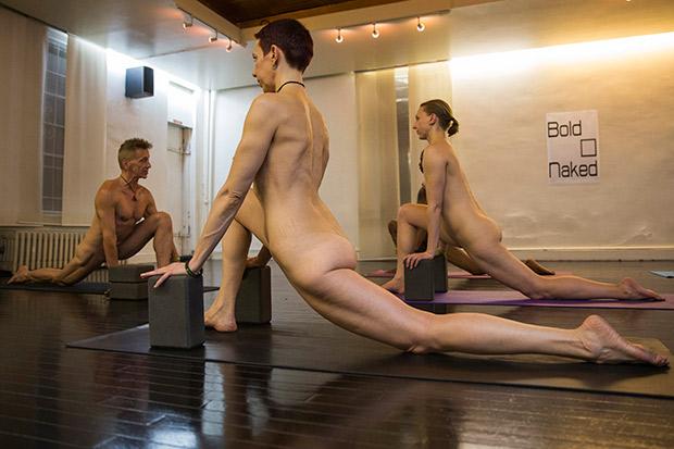 eagle spread Nude yoga