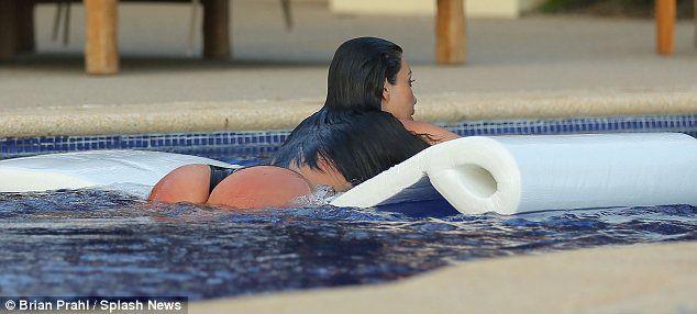 Kim kardashian see through pool