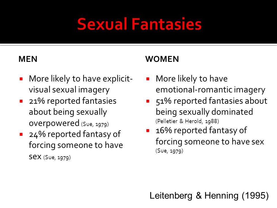 Women sex fantasies