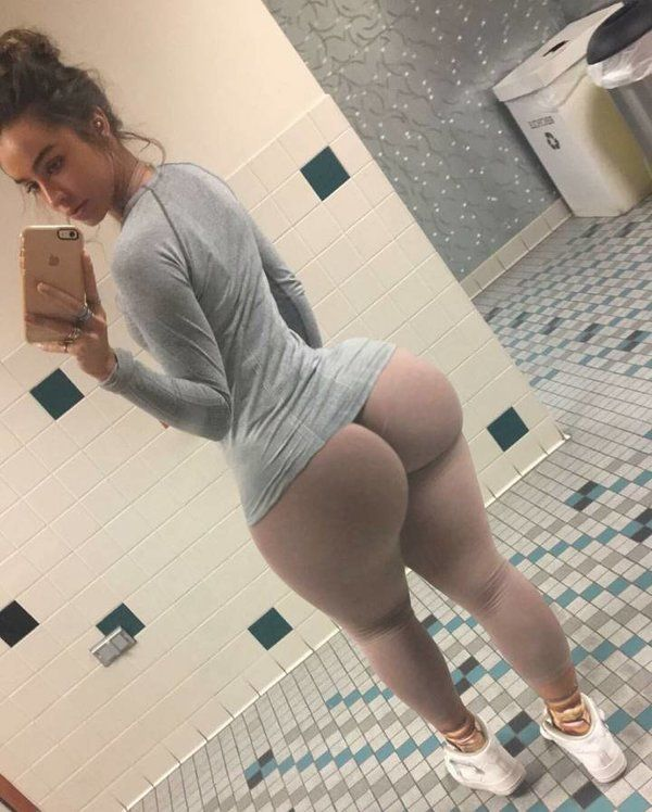 Tight girl ass selfie