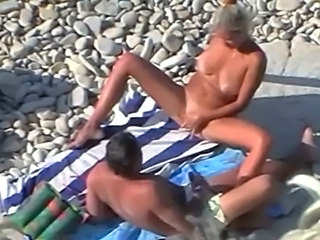 beach masturbation Spy mature