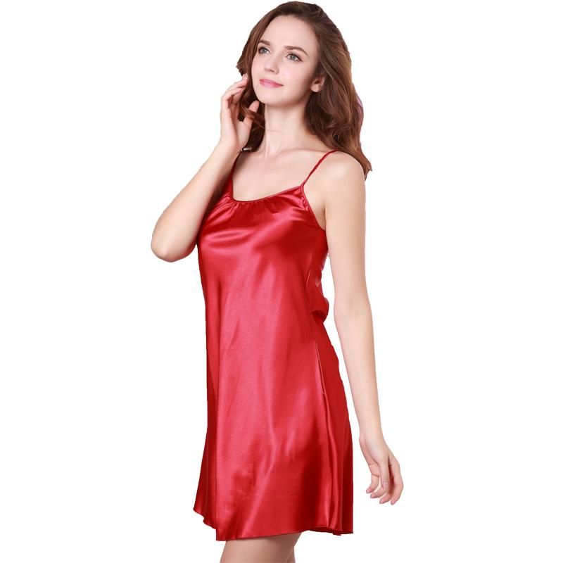 Red satin nightie