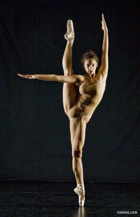 Nude female ballet dancers