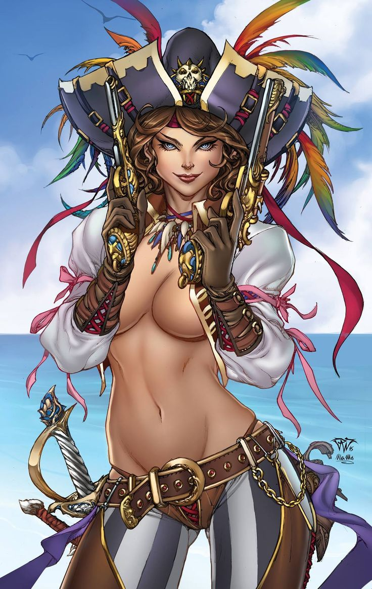 Nude fantasy art pirate