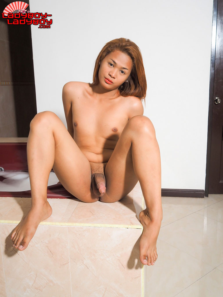 Asian bare feet ladyboy