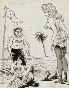 Vintage adult erotic cartoon sex
