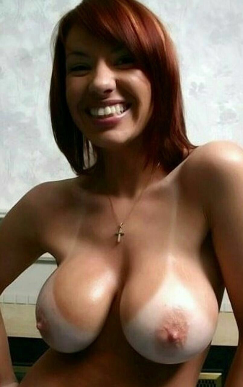 Busty tan lines nude