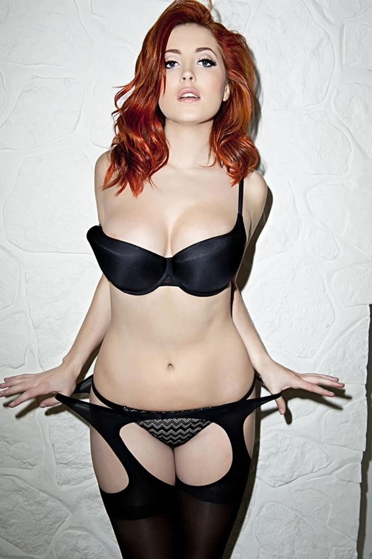 Sexy redhead girls lingerie