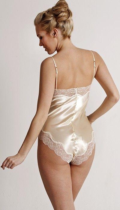 Shiny satin lingerie