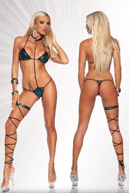 Sexy bikini stripping