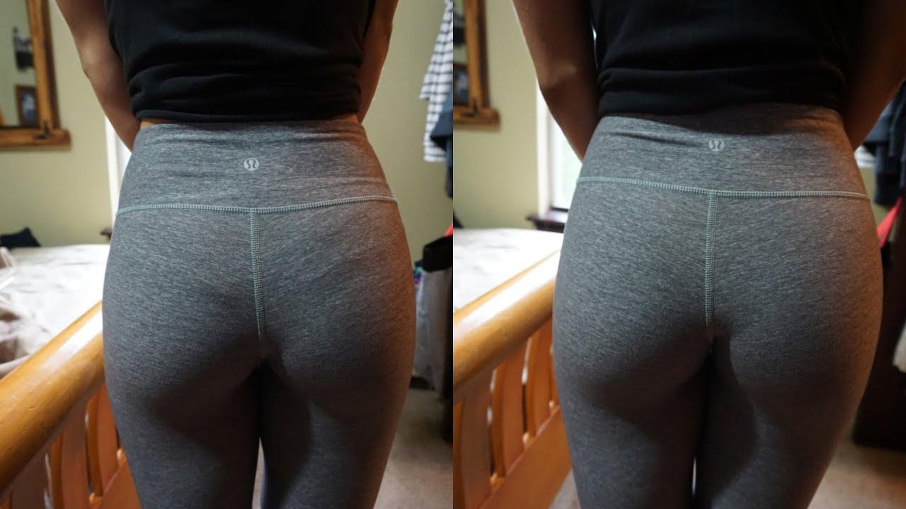 Yoga pants panty line