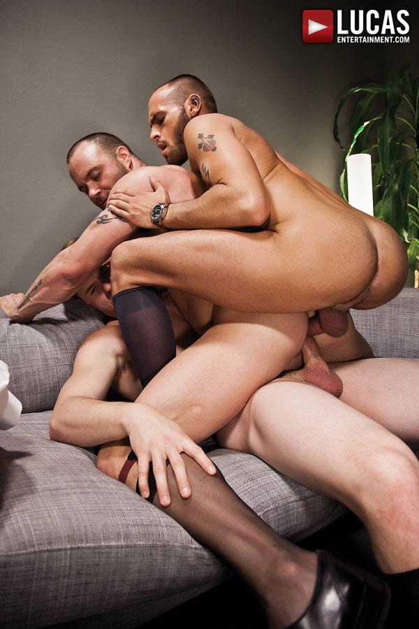Gay bareback double penetration