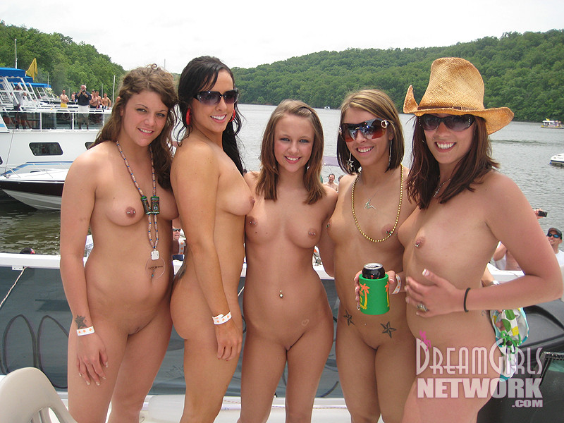 Naked college girls nude group party
