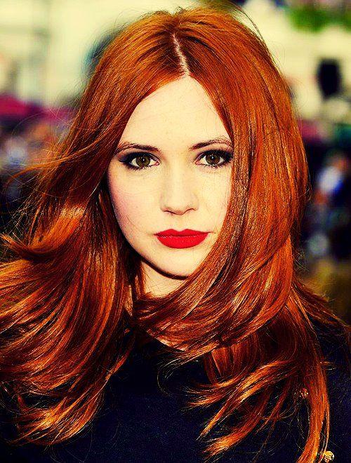 gillan hair Karen red