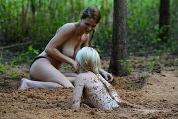 in Lesbian quicksand sex