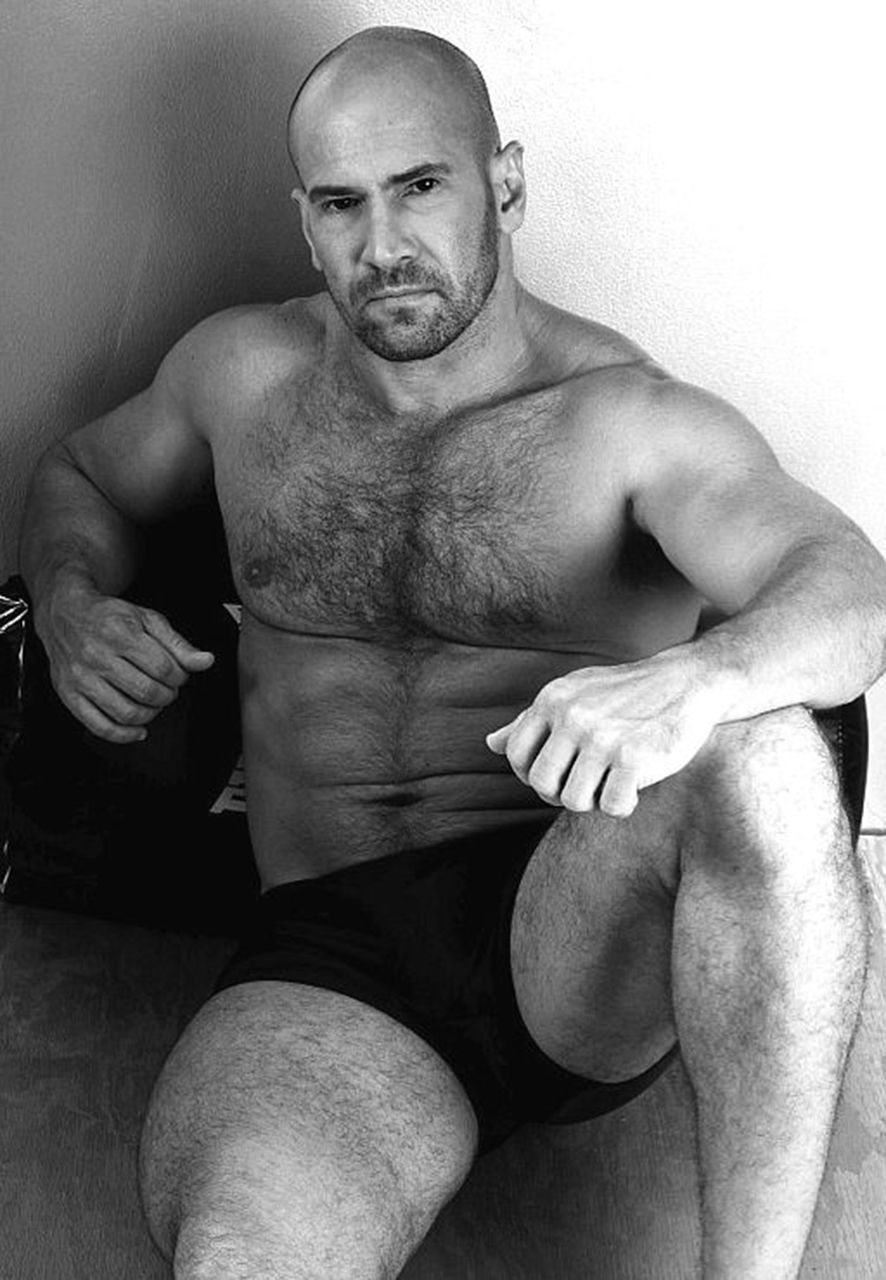 Naked hairy men bear daddy black