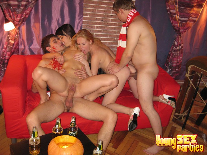 Candid college sex party