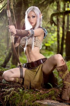 Nude elf cosplay porn