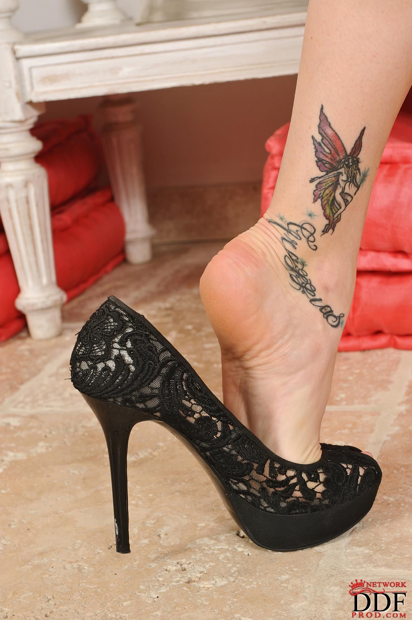 Long legs in high heels foot fetish