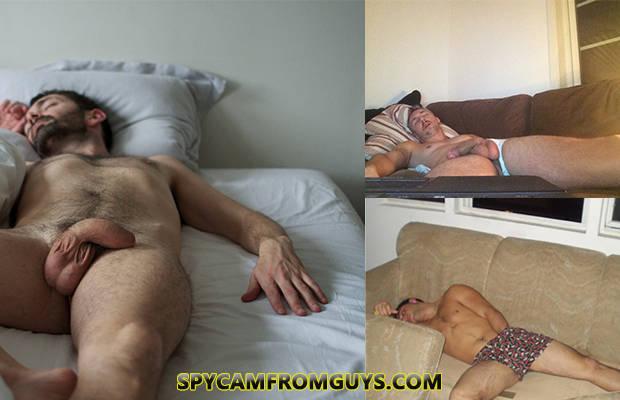 Naked sleeping men porn
